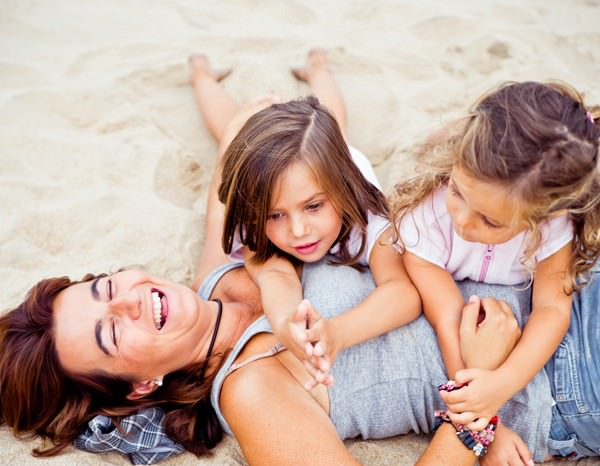 Con Rosita y Begoña en la playa